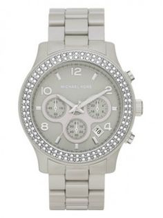 MIchael Kors Gray Ceramic Watch.  Obsessed!! <3