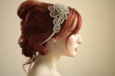 Crystal headband  NOAH  Style 001 Sold Out by MillieICARO on Etsy, $189.00