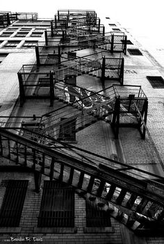 Daniel- We want to use the fire escape climbing the front of the stage, and this is how I'm imagining the walls and the fire escape, maybe with wider landings.