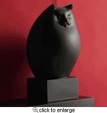 Sleek Black Persian Cat Sculpture, available at Museum of Fine Arts, Boston.   Based on original 1931 sculpture by Richard H. Recchia