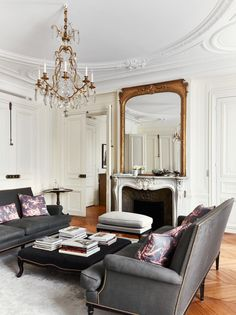 Love the mirror, coffee table, and rug!