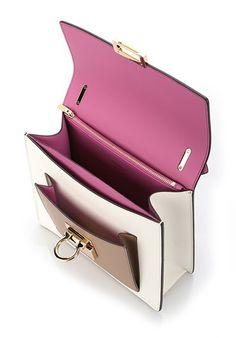 SALVATORE FERRAGAMO Color block 'Marisol' shoulder bag