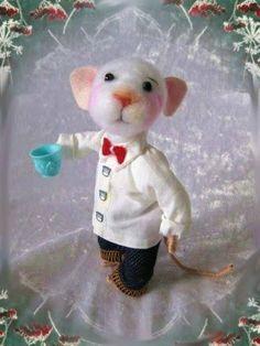 Filzmaus, filz maus, felt mouse, needle felting