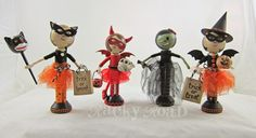 junk&stuff: Trick or Treat! Halloween Peg Dolls
