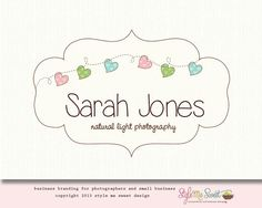 Photography Logo Heart Logo Design Premade Logo Frame Hand drawn Photographers or Small Business Logo