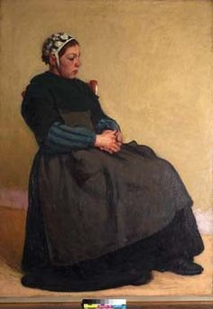 """Painting, Breton Woman""  by Roderic O'Conor"