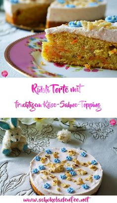 Osterspecial || Rübli Torte mit fruchtigem Käse-Sahne-Topping