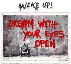 Hijack Wake Up Print Release Balloon City, Stencil Street Art, Dream On Dreamer, Hybrid Art, Print Release, Graffiti Murals, Street Artists, Banksy, Wake Up