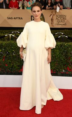 Natalie Portman from SAG Awards 2017: Best Dressed Celebs  The mom-to-be looks stunning in this all-white Dior look.