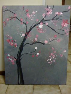 Cherry Blossom, Acrylic.