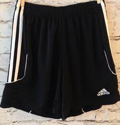 Adidas Climalite Youth Mesh Shorts Size XS 4-6 Kid's Black White Stripe Athletic #adidas #Everyday