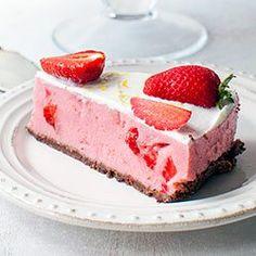 SPÓD Z HERBATNIKÓW KAKAOWYCH (Lekki sernik truskawkowy na zimno | Kwestia Smaku)