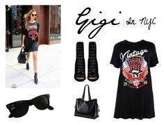 """""""Gigi in NYC"""" by mia1995fashionlover on Polyvore featuring Mode, Boohoo, Barbara Bui und Ray-Ban"""