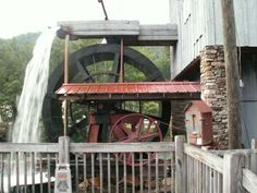 Wheel of the Saunooke Mill in Swain Co., NC.
