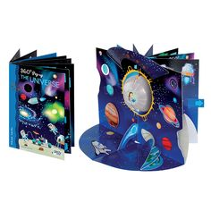 #Sassi Science: Pop-up 360° - The Universe. A 8-pages book about the universe + a 360° pop-up. #eco #friendly #book #game