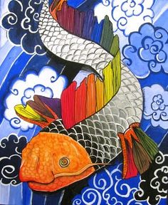 Creative Color Theory Paintings LOve This