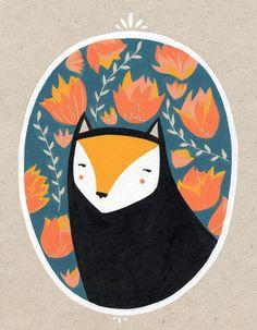 portrait of a cat. via Etsy.