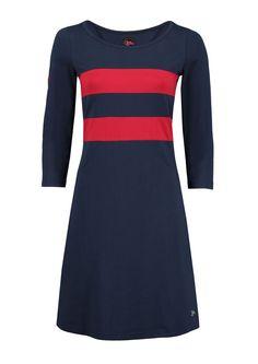 Tante Betsy kjole HEARTS navy red