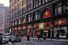 View of front of Simpson's with holiday decorations, Yonge and Queen Street West, Nov. - Courtesy of City of Toronto Archives, Fonds File Item Queen Street West, Yonge Street, Toronto Ontario Canada, Time Photo, Canada Travel, Landscape Photos, The Neighbourhood, Places To Go, Street View