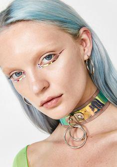 Face Gems, Face Jewels, Beauty Makeup, Hair Makeup, Hair Beauty, Temporary Face Tattoos, Gem Bar, Face Lace, Princess Face