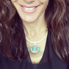 Here comes the  -even if  it's only on my neck! #sdsneak of a capsule coming in March just right for wear now wear later. Versatile removable reversible- all that jazz. @blythe.harris Genius! Have your @stelladot Stylist come on over and show you and your friends how to wear it. #ootd #turquoise
