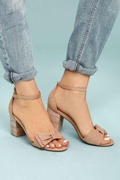 Report Pearlina Pink Suede Ankle Strap Heels 4