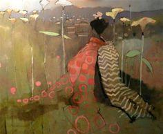 """Geisha Dream"" by Mary Pratt - oil painting - http://www.ugallery.com/mary-pratt"