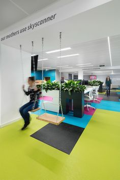 """Skyscanner, a technology company that provides flight search services and online comparisons for hotels and car hire, reached out to architecture firmStephen George International, to design their new offices in Sofia, Bulgaria. """"Their first office located in Sofia was growing at a rapid rate, so the client wanted new larger space to accommodate more staff … Continue reading Inside Skyscanner's Cool Sofia Office →"""