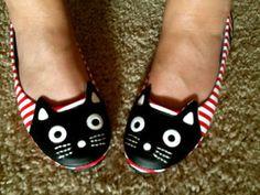 DIY Kitty Flats Shoe Redo