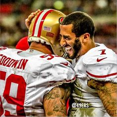 Colin Kaepernick and Teammates Celebration
