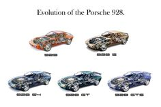 Porsche 928 evolution cutaway