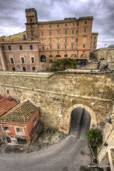 approaching the medioeval part of the city #Cagliari, Sardinia