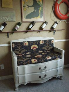 New Dresser Bench with Two Storage Drawers by tigerlilysn on Etsy, $300.00