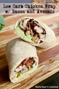 Low Carb Meals The perfect keto friendly lunch-to-go, this delicious Low Carb Chicken Wrap with Bacon and Avocado takes minutes to create for easy night time prep. Chicken Wraps, Chicken Wrap Recipes, Chicken Sandwich, Lunch Recipes, Low Carb Recipes, Cooking Recipes, Healthy Recipes, Soup Recipes, Dinner Recipes