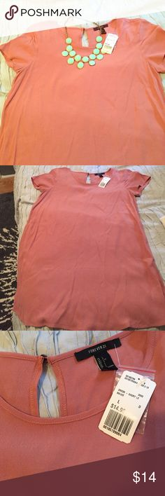 **NWT* Salmon shift dress Salmon shift dress from a Forever 21!  Can easily be dressed up or down! NWT! Forever 21 Dresses Mini