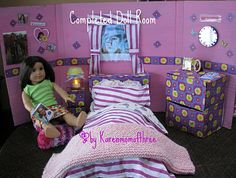 Foldable American Girl doll room