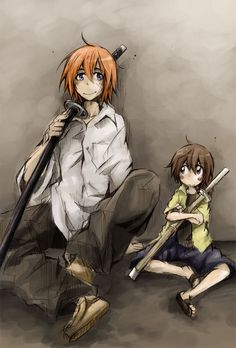Aww they look like senpai and kouhai instead of father and son XD Kenshin Y Kaoru, Kenshin Anime, Kenshin Le Vagabond, Era Meiji, Samurai, Wolfenstein, Drawing Poses, Anime Characters, Fictional Characters
