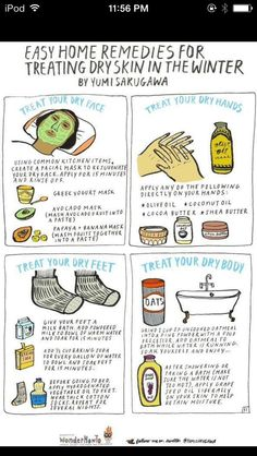 Dry Skin Remedies.  Don't forget the Crisco!