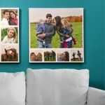 A canvas picture collage featuring her fondest pics is one of several fifth wedding anniversary gift ideas for women.