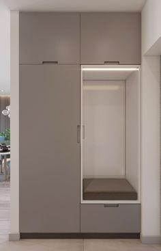 Diy home decor Hall Wardrobe, Wardrobe Door Designs, Wardrobe Design Bedroom, Wardrobe Doors, Closet Designs, Small Apartment Interior, Small Space Interior Design, Home Entrance Decor, House Entrance