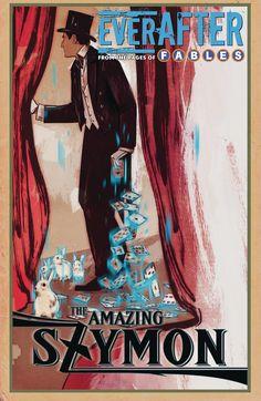 EVERAFTER FROM THE PAGES OF FABLES #6Experimente el amanecer del Everaftering a través de los ojos del legendario mago, The Amazing Szymon!  En un punto de crisis en su cansada carrera, el Amazing Szymon está a punto de echarlo todo cuando sus trucos del oficio se revitalizan repentinamente por una magia real e inexplicable.  Después de que Feathertop interviene con una promesa de guiar esta nueva fábula a cambio de su servicio con los Jugadores de Sombras, la misión de Szymon de rescatar a…