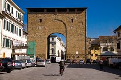 Porta San Frediano - Florence. Through this gate Charles VIII entered the city on Nov. 17, 1494. He and his 12000 troops stayed for 11 days, it was a relatively peaceful stay. Resentment developed later, once they didn't pay the city what was owed.