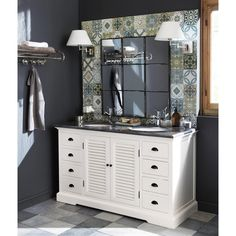 Rustic wc on pinterest rustic bathrooms bathroom sink - Miroir salle de bain maison du monde ...