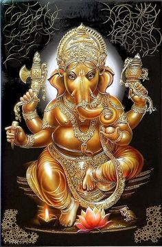 Lord Ganesh - Hindu Posters (Reprint on Paper - Unframed)