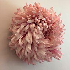 L'artiste papieretarchitecte Tiffanie Turner est connue pour ses sculptures non seulement géantes mais aussi luxuriantes, superbement fleuries,des réalisations qui peuvent atteindre un mètre cinquante de circonférence.Des milliers de papier La hauteur impressionnante de ses réalisations expl