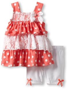 Amazon.com: Little Lass Baby-Girls Infant 2 Piece Bike Short Set With Layers: Clothing