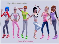 Everyday Clothing for adult females.  Found in TSR Category 'Sims 2 Clothing Sets'