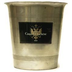 Canard Duchene Champagne Bucket. Aluminum Ice Bucket with French... ($27) ❤ liked on Polyvore featuring home, kitchen & dining, bar tools and aluminum ice bucket