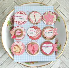 Set of 9 cute Valentine embellishments perfect for scrapbooks, journals, cards and more! The Details * You will receive the exact 9 paper