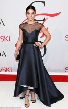 Pulling out all the stops: Vanessa ensured she looked picture perfect for the high-profile...
